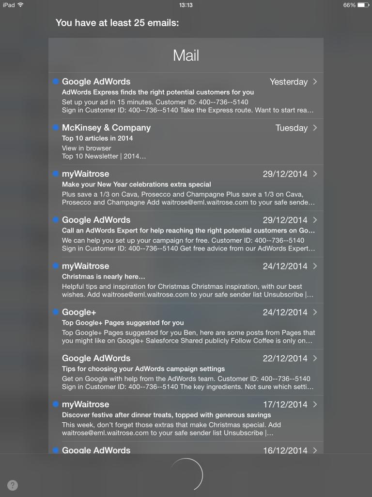 Siri mail